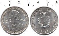 Изображение Монеты Мальта 2 фунта 1989 Серебро UNC-