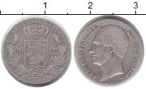 Изображение Монеты Бельгия 20 сантим 1853 Серебро VF