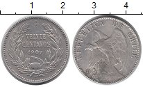 Изображение Монеты Чили 20 сентаво 1907 Серебро XF