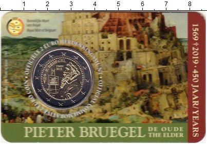 Изображение Подарочные монеты Бельгия 2 евро 2019 Биметалл UNC 450 лет со дня рожде