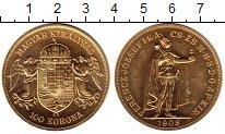 Изображение Монеты Венгрия 100 крон 1908 Золото UNC-