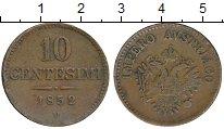 Изображение Монеты Италия Венеция 10 сентесим 1852 Медь XF-