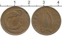 Изображение Монеты Ирландия 1 пенни 1988 Бронза XF