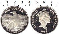 Изображение Монеты Новая Зеландия 1 доллар 1988 Серебро Proof-
