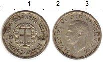 Изображение Монеты Великобритания 3 пенса 1942 Серебро XF