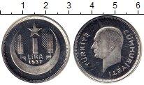 Изображение Монеты Турция 1 лира 1937 Серебро Proof-