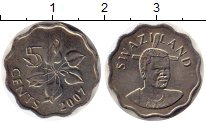 Изображение Монеты Свазиленд 5 центов 2007 Медно-никель UNC-