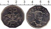 Изображение Монеты Свазиленд 50 центов 2005 Медно-никель UNC-