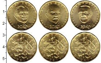 Изображение Наборы монет Чехия 20 крон 2019 Латунь UNC Второй выпуск 20-кро