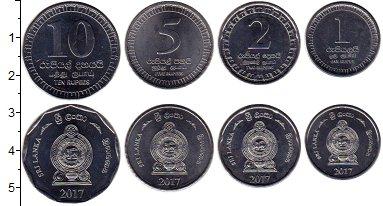 Изображение Наборы монет Шри-Ланка Набор 2017 года 2017 Сталь UNC- В наборе 4 монеты но