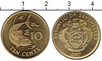 Изображение Монеты Сейшелы 10 центов 2007 Медно-никель UNC