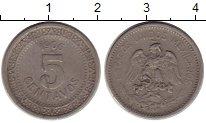 Изображение Монеты Мексика 5 сентаво 1906 Медно-никель XF