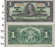 Изображение Банкноты Канада 1 доллар 1937  XF+