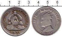 Изображение Монеты Гондурас 1 лемпира 1931 Серебро XF