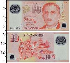 Банкнота Сингапур 10 долларов 2017 UNC фото