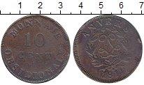 Изображение Монеты Бельгия Антверпен 10 сантим 1814 Медь VF