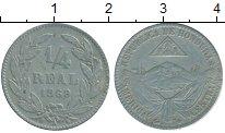 Изображение Монеты Гондурас 1/4 реала 1869 Медно-никель VF