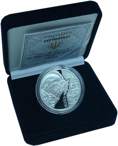 Изображение Подарочные монеты Украина 5 гривен 2019 Серебро Proof Конь. Оригинальная у