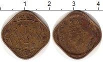 Изображение Монеты Индия 1/2 анны 1943 Латунь