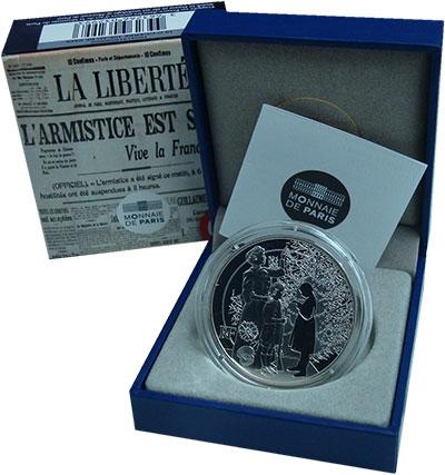 Изображение Подарочные монеты Франция 10 евро 2015 Серебро Proof Первая мировая война