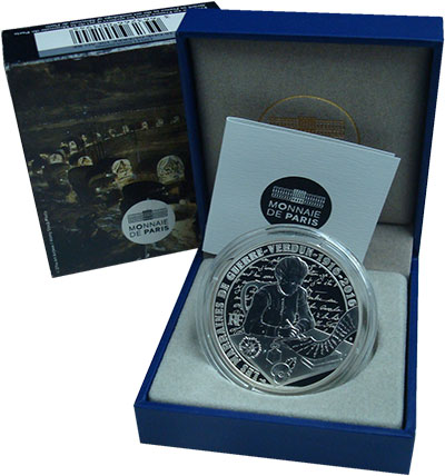 Изображение Подарочные монеты Франция 10 евро 2016 Серебро Proof Первая мировая война