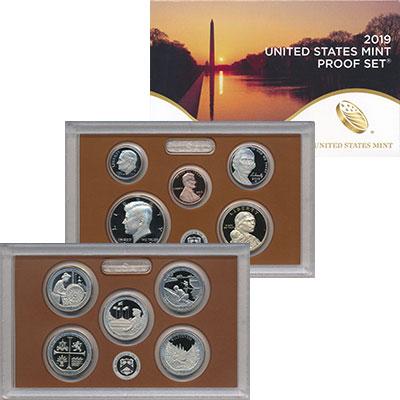 Изображение Подарочные монеты США Набор 2019 года 2019  Proof `В набор входят деся