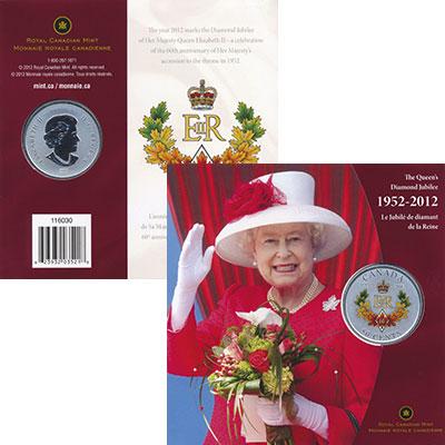 Изображение Подарочные монеты Канада 50 центов 2012 Медно-никель UNC 60 лет правления Ели