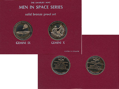 Изображение Подарочные монеты Великобритания Человек в Космосе 0 Бронза Proof- Памятные медали в ор