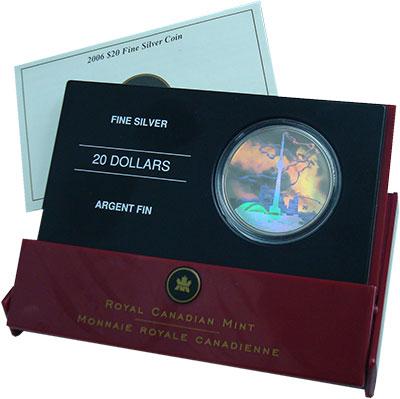 Изображение Подарочные монеты Канада 20 долларов 2006 Серебро Proof 30 лет открытия теле