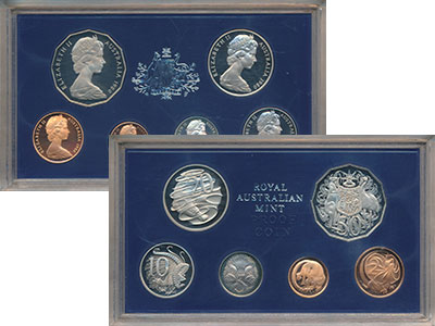 Изображение Подарочные монеты Австралия Набор 1980 года 1980  Proof Набор из шести монет