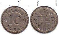 Изображение Монеты Исландия 10 аурар 1933 Медно-никель XF