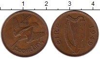 Изображение Монеты Ирландия 1/4 пенни 1949 Бронза XF