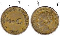 Изображение Монеты Нидерланды Кюрасао 1/10 гульдена 1944 Серебро XF