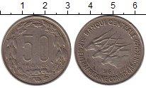 Монета Центральная Африка 50 франков Медно-никель 1961 XF фото