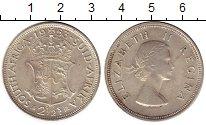 Изображение Монеты ЮАР 2 1/2 шиллинга 1953 Серебро UNC-