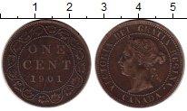Изображение Монеты Канада 1 цент 1901 Бронза XF-