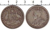 Изображение Монеты Австралия 2 шиллинга 1927 Серебро VF+