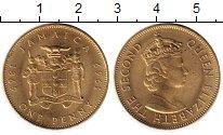 Изображение Монеты Ямайка 1 пенни 1969 Латунь UNC-