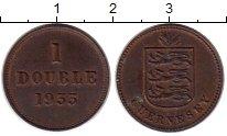 Изображение Монеты Великобритания Гернси 1 дубль 1933 Бронза XF
