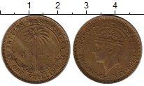 Изображение Монеты Великобритания Западная Африка 1 шиллинг 1942 Латунь XF