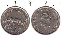 Изображение Монеты Индия 1/4 рупии 1946 Медно-никель XF+