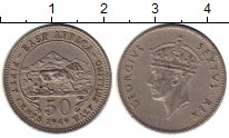 Монета Восточная Африка 50 центов 1949 Георг VI Медно-никель XF