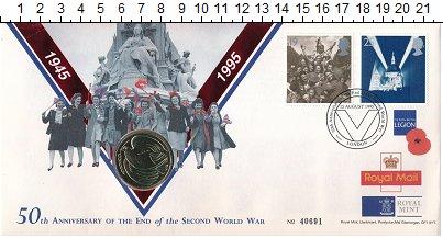 Изображение Монеты Великобритания 2 фунта 1995 Латунь UNC 2 фунта 1995г., посв
