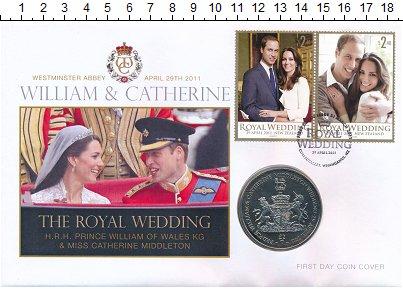 Изображение Монеты Сендвичевы острова 2 фунта 2011 Медно-никель UNC Елизавета II.  Свадь