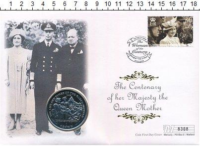 Изображение Подарочные монеты Остров Мэн 1 крона 2000 Медно-никель UNC Елизавета II. Жизнь