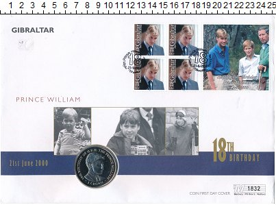 Изображение Монеты Гибралтар 1 крона 2000 Медно-никель UNC Елизавета II.  18 -