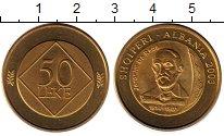 Изображение Монеты Албания 50 лек 2003 Латунь UNC