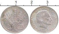 Изображение Монеты Уругвай 20 сентесим 1954 Серебро XF