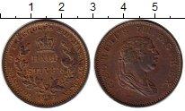Изображение Монеты Великобритания Эссекуибо и Демерара 1/2 стивера 1815 Медь XF