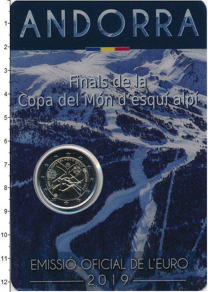 Изображение Подарочные монеты Андорра 2 евро 2019 Биметалл UNC Финал Кубка мира по